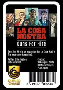 La Cosa Nostra: Guns for Hire expansion (Quined Games)